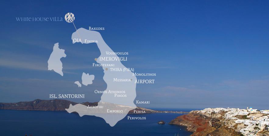 Oia Local Info Map White House Villa Oia Santorini